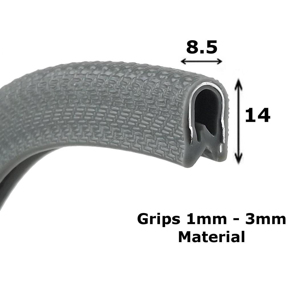 dark grey edge trim