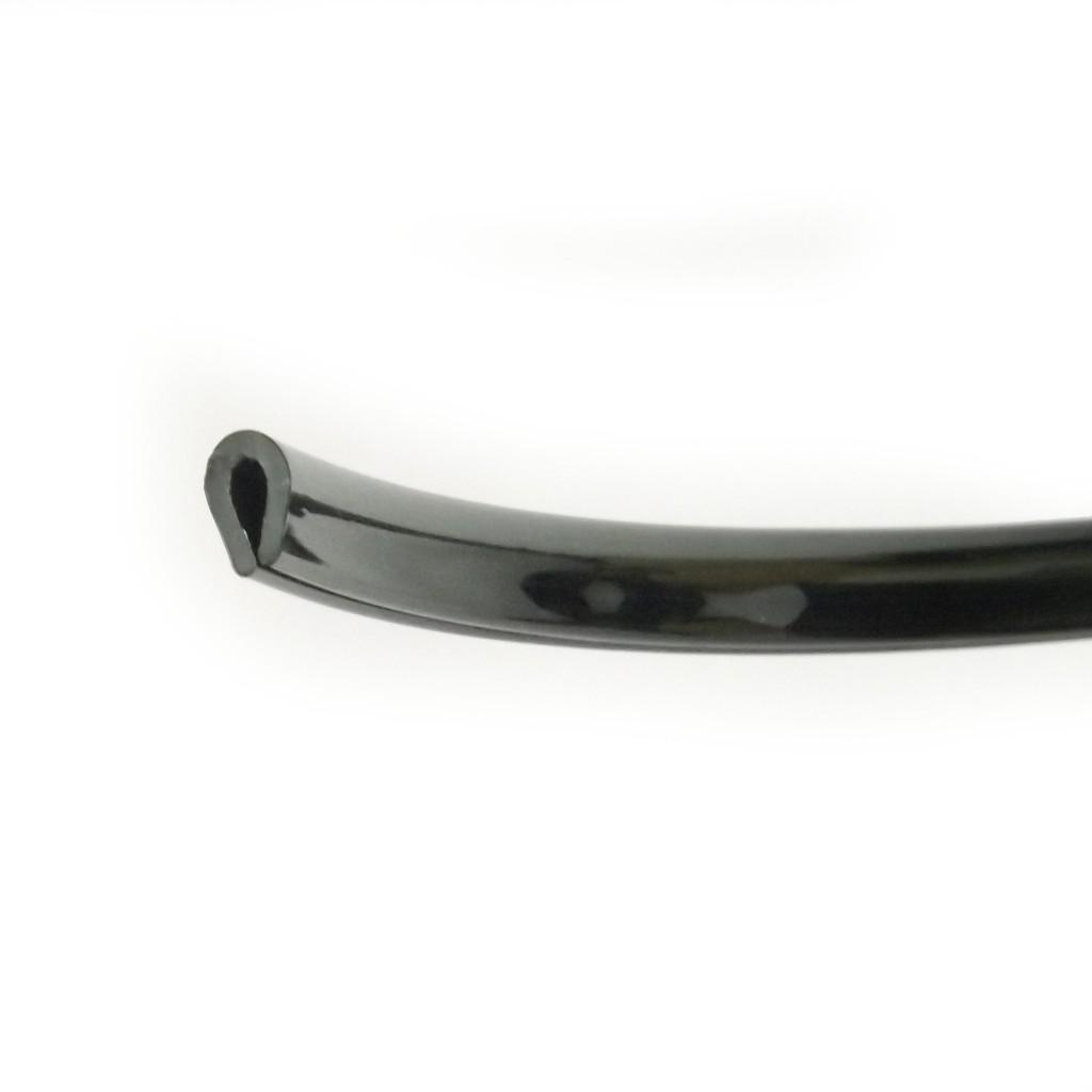 shiny black pvc edge trim