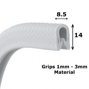 light grey edge trim