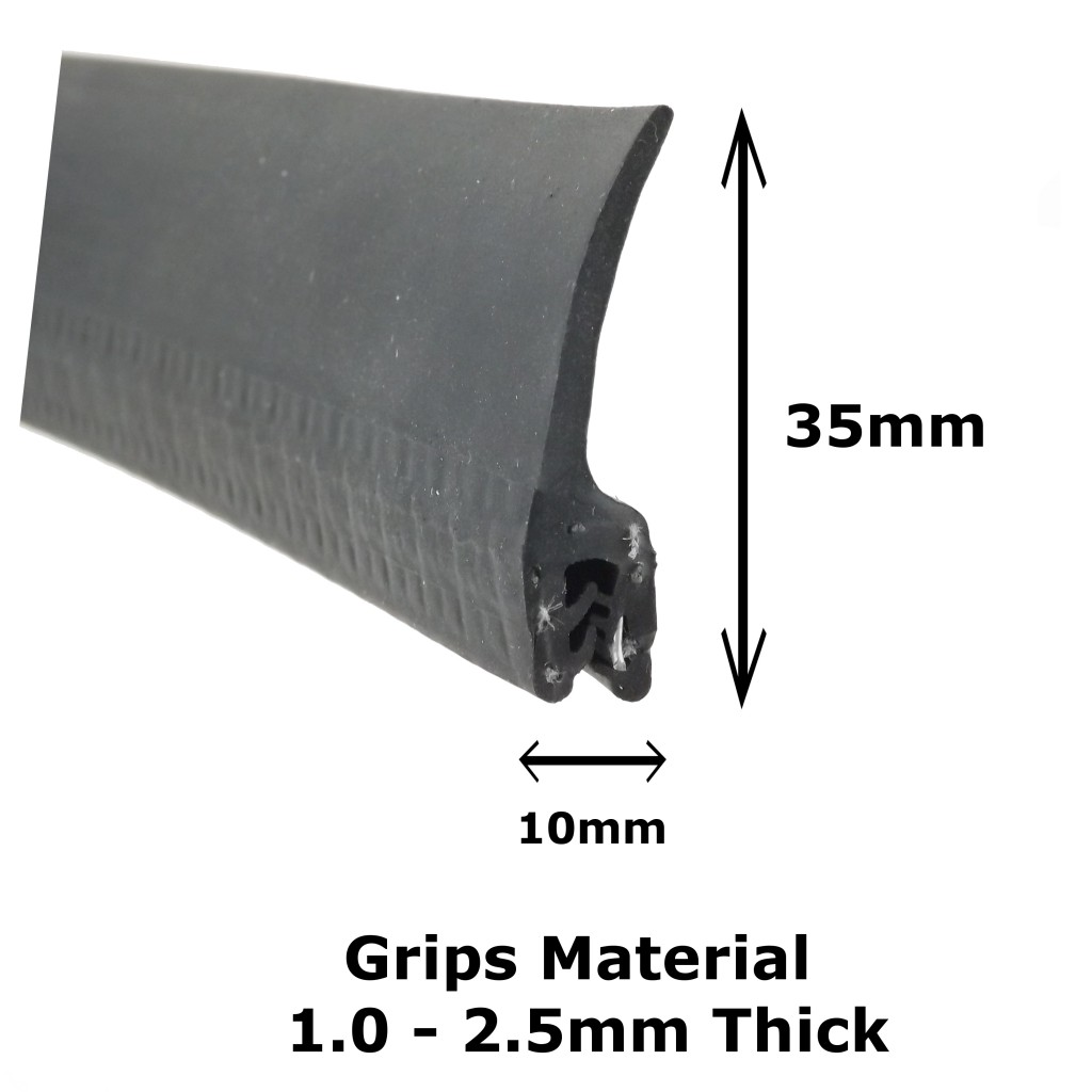 Large Vertical Fin Edge Seal