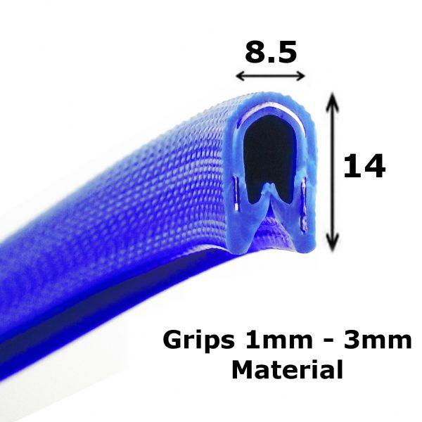 dark blue edge trim