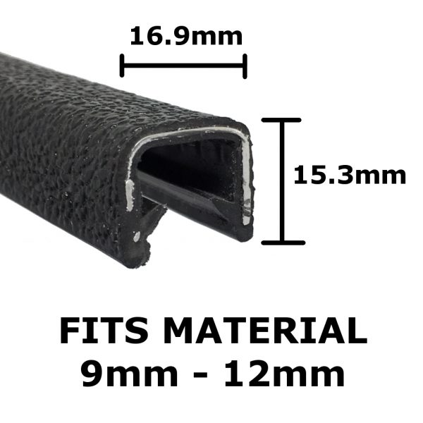 large black edge trim