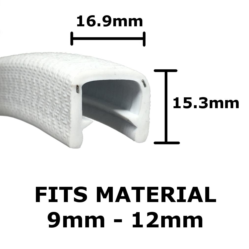 jumbo white edge trim