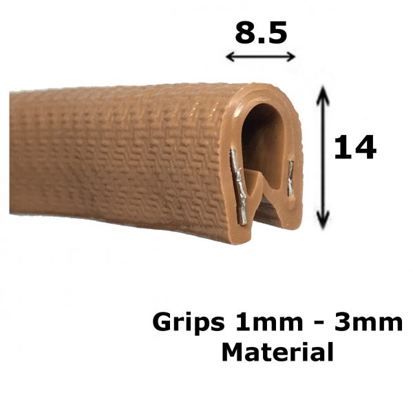 brown edge trim
