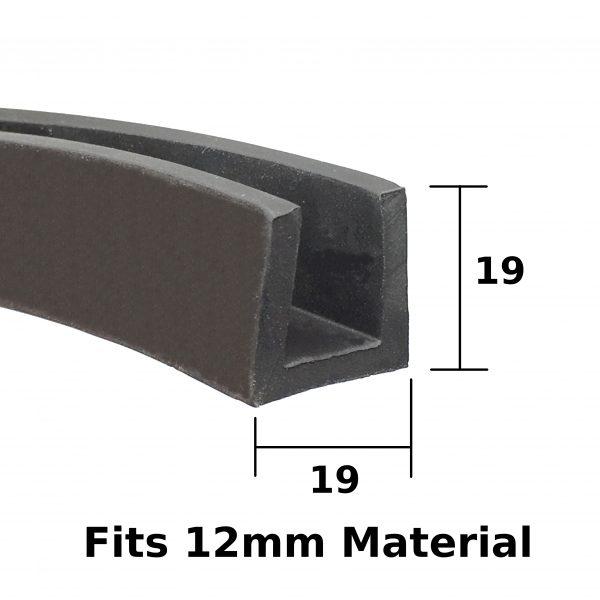 19mm Rubber U Channel