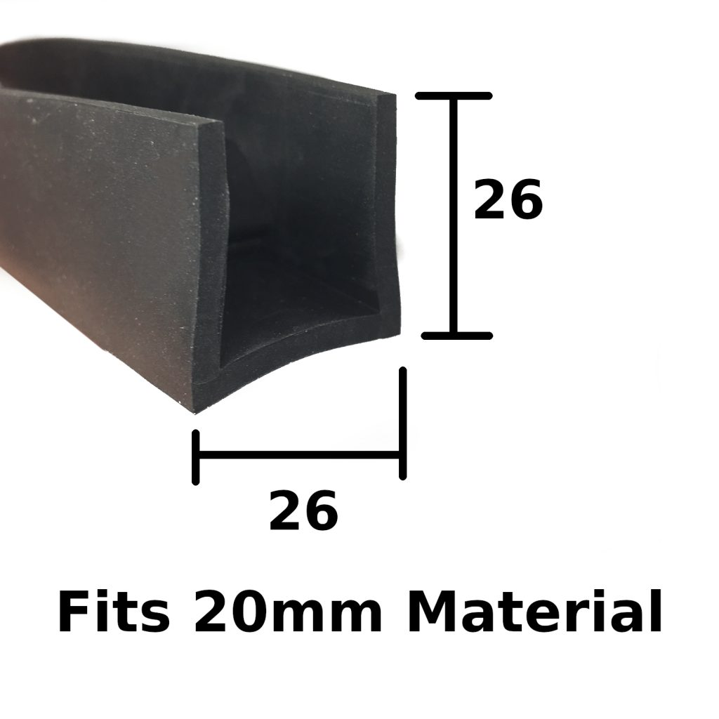 square rubber capping extrusion
