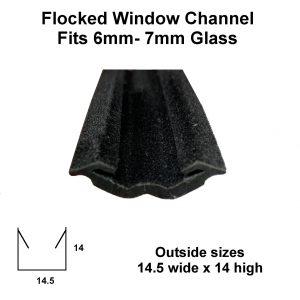 flocked window u channel