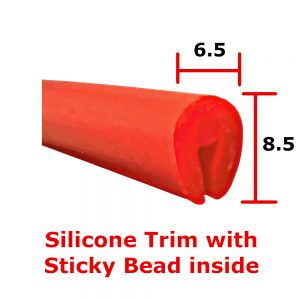 Red silicone edge trim